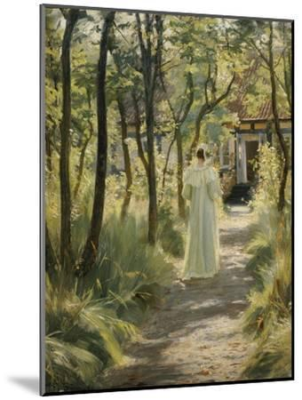 Marie, the Artist's Wife, in the Garden, 1895-Peter Severin Kroyer-Mounted Giclee Print