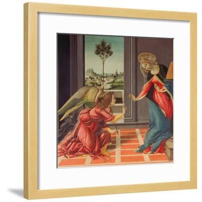 Annunciation Mary of Cestello-Sandro Botticelli-Framed Giclee Print