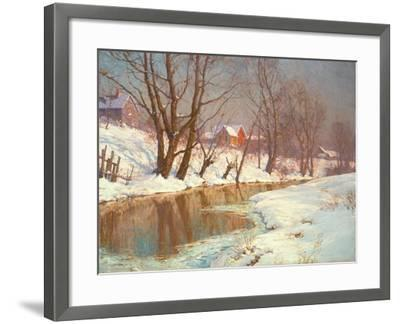 Winter Morning at a Stream-Walter Launt Palmer-Framed Giclee Print