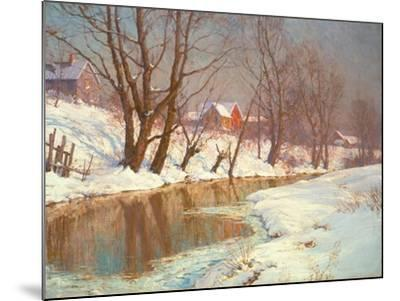 Winter Morning at a Stream-Walter Launt Palmer-Mounted Giclee Print