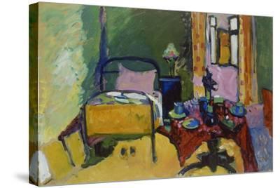 Schlafzimmer in Der Ainmillerstrasse 36, 1909--Stretched Canvas Print