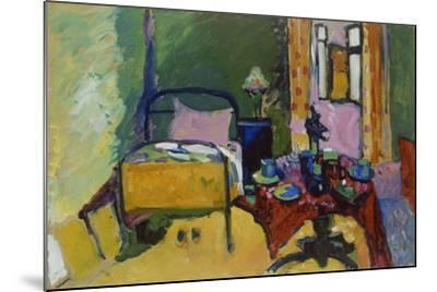 Schlafzimmer in Der Ainmillerstrasse 36, 1909--Mounted Giclee Print