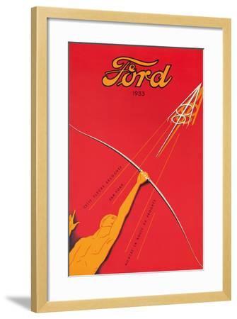 A Poster Advertising the Ford V8 Engine, 1933--Framed Giclee Print