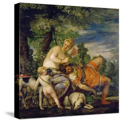 Venus and Adonis-Paolo Uccello-Stretched Canvas Print