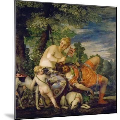 Venus and Adonis-Paolo Uccello-Mounted Giclee Print