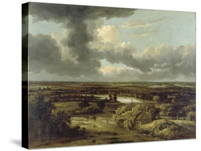 Dutch Landscape with View from Dunes on Plain, Um 1664-Philips Koninck-Stretched Canvas Print