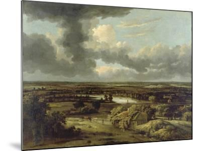 Dutch Landscape with View from Dunes on Plain, Um 1664-Philips Koninck-Mounted Giclee Print