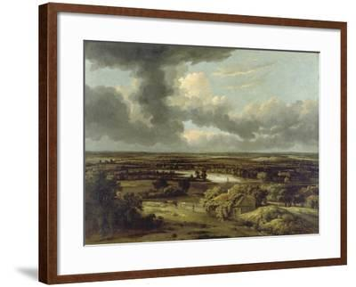 Dutch Landscape with View from Dunes on Plain, Um 1664-Philips Koninck-Framed Giclee Print