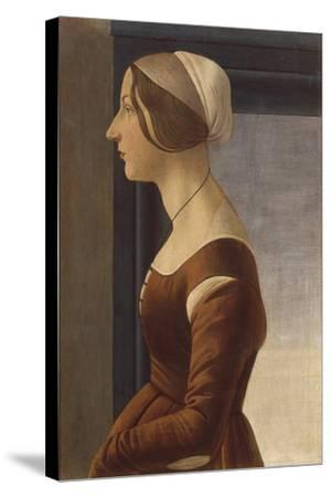 Portrait of a Lady with Cap (La Bella Simonetta)-Sandro Botticelli-Stretched Canvas Print