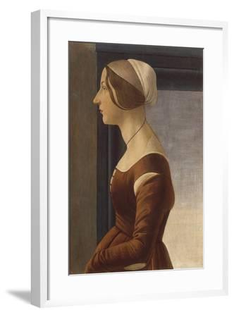 Portrait of a Lady with Cap (La Bella Simonetta)-Sandro Botticelli-Framed Giclee Print
