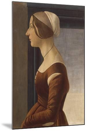 Portrait of a Lady with Cap (La Bella Simonetta)-Sandro Botticelli-Mounted Giclee Print