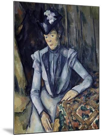 Lady in Blue, 1898-99-Paul C?zanne-Mounted Giclee Print