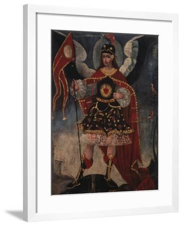 Archangel Michael- Schule von Cuzco-Framed Giclee Print
