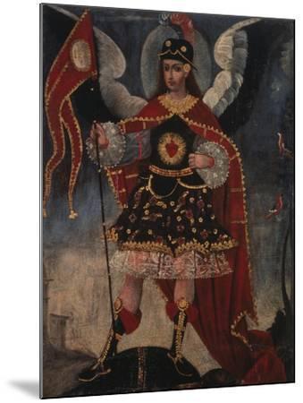 Archangel Michael- Schule von Cuzco-Mounted Giclee Print