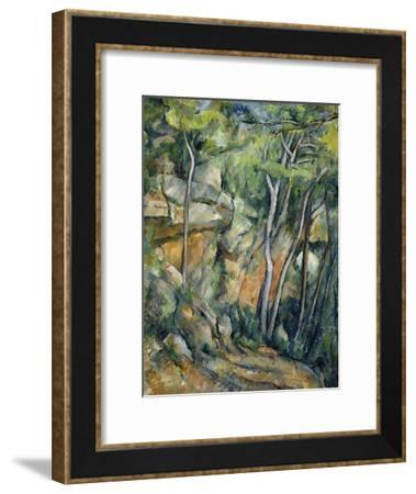 In the Park of Chateau Noir-Paul C?zanne-Framed Giclee Print