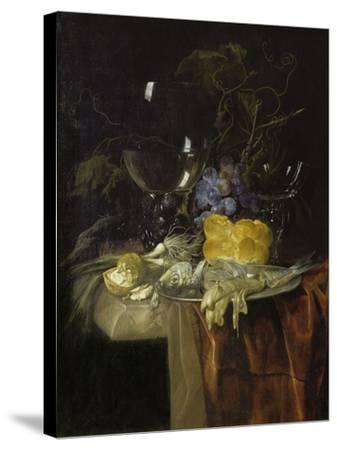 The Breakfast, 1679-Willem van Aelst-Stretched Canvas Print