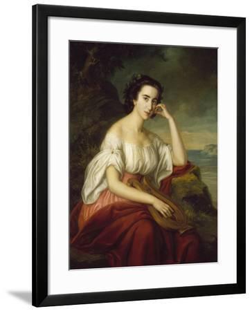 Sappho-Soma Orlai-Petrich-Framed Giclee Print