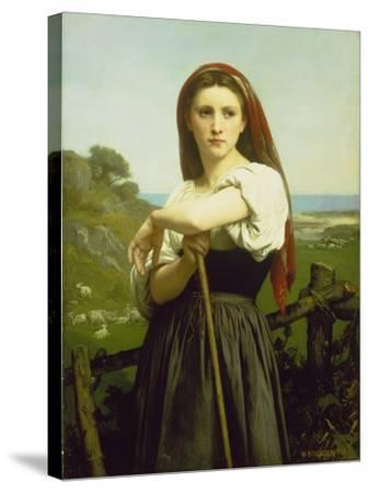 The Shepherdess, 1868-William Adolphe Bouguereau-Stretched Canvas Print