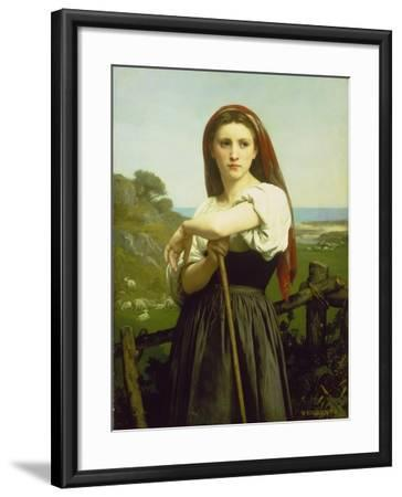 The Shepherdess, 1868-William Adolphe Bouguereau-Framed Giclee Print