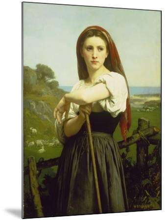 The Shepherdess, 1868-William Adolphe Bouguereau-Mounted Giclee Print