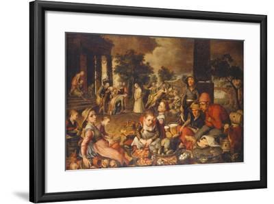 Market Scene with Christ and the Adulteress-Pieter Bruegel the Elder-Framed Giclee Print