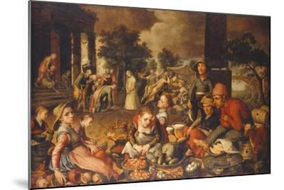 Market Scene with Christ and the Adulteress-Pieter Bruegel the Elder-Mounted Giclee Print