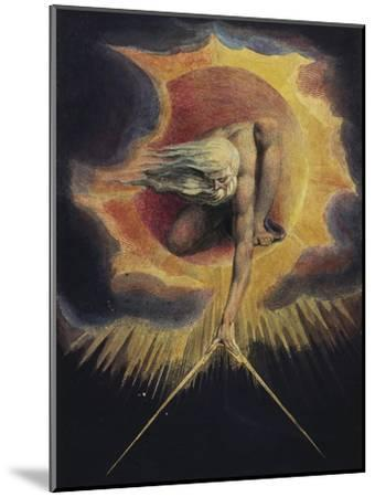The Ancient of Days, 1794-William Blake-Mounted Premium Giclee Print