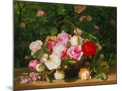 Basket of Roses, 1879-William Hammer-Mounted Giclee Print