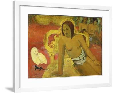Vairumati, 1897-Paul Gauguin-Framed Giclee Print