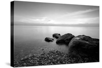 Rocks on Beach-PhotoINC-Stretched Canvas Print