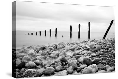 Beach Pebbles--Stretched Canvas Print