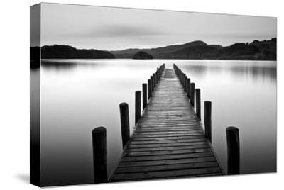 Lake Pier--Stretched Canvas Print