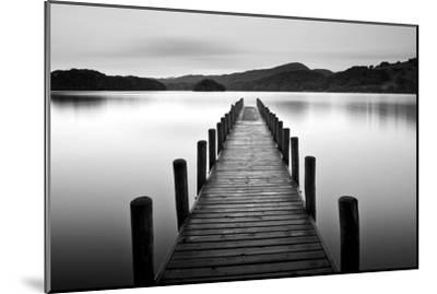 Lake Pier--Mounted Premium Photographic Print