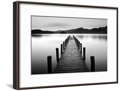 Lake Pier--Framed Premium Photographic Print