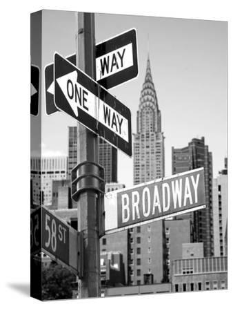 Broadway--Stretched Canvas Print