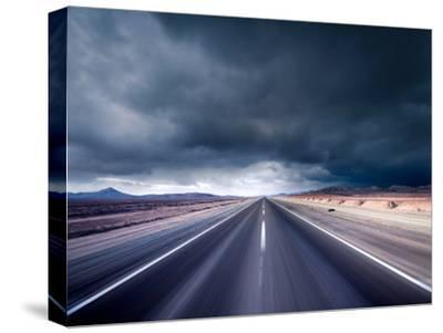 Dark Road--Stretched Canvas Print