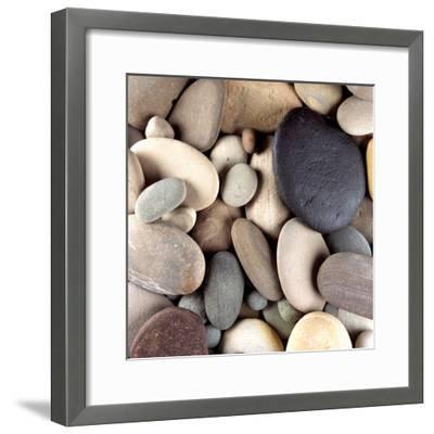 Brown Pebbles--Framed Premium Photographic Print