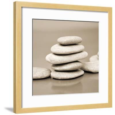 Zen Pebbles--Framed Premium Photographic Print