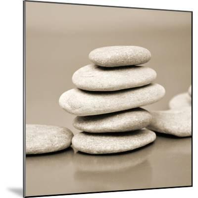 Zen Pebbles--Mounted Premium Photographic Print