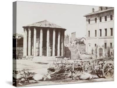 View of Rome--Stretched Canvas Print