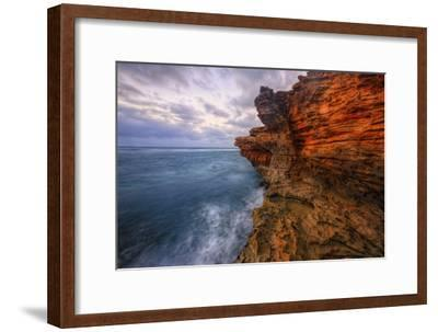 Dynamic Seascape Textures, Kauai Hawaii-Vincent James-Framed Photographic Print