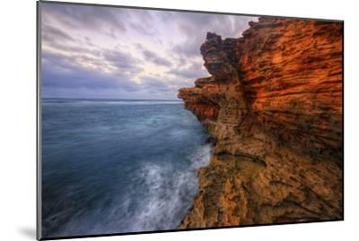 Dynamic Seascape Textures, Kauai Hawaii-Vincent James-Mounted Photographic Print