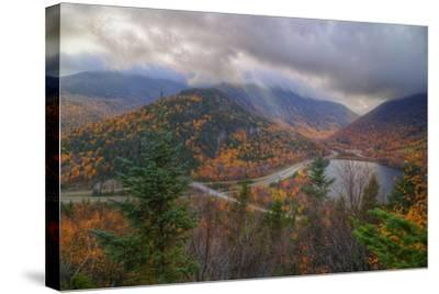 Morning Storm at Echo Lake in Autumn, New Hampshire-Vincent James-Stretched Canvas Print