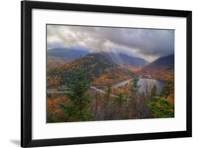 Morning Storm at Echo Lake in Autumn, New Hampshire-Vincent James-Framed Photographic Print