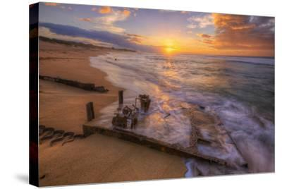 The End of the Road, Polihale Beach, Kauai Hawaii-Vincent James-Stretched Canvas Print