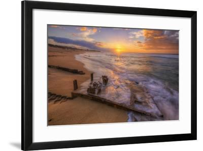 The End of the Road, Polihale Beach, Kauai Hawaii-Vincent James-Framed Photographic Print