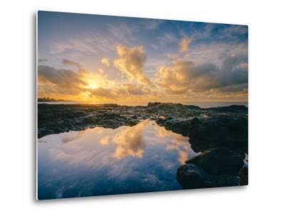 Morning Sun and Cloudscape Reflections, Kauai-Vincent James-Metal Print