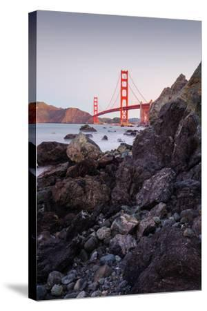 View From The Rocks II, Golden Gate Bridge, San Francisco-Vincent James-Stretched Canvas Print