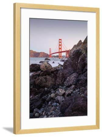 View From The Rocks II, Golden Gate Bridge, San Francisco-Vincent James-Framed Photographic Print
