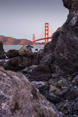 View From The Rocks , Golden Gate Bridge, San Francisco-Vincent James-Framed Photographic Print